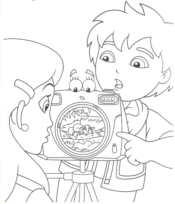 Diego Show Alicia Click the Most Important Equipment He Possess in Go Diego Go Coloring Page