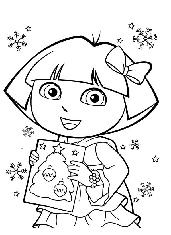 🎨 Dora The Explorer S Christmas - Kizi Free 2020 Printable ... | 825x600