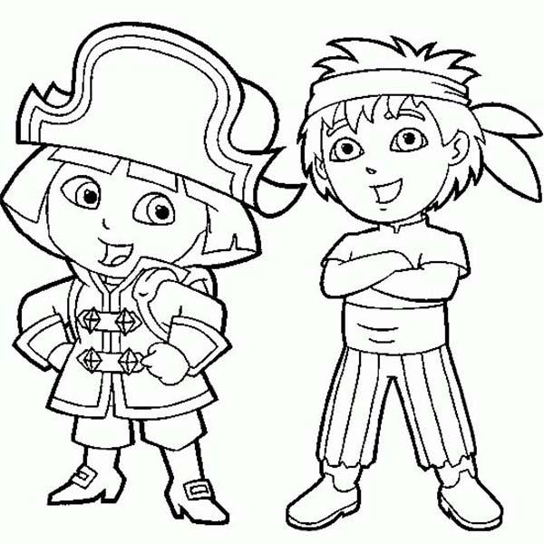 Dora the explorer for kids - Dora The Explorer Kids Coloring Pages | 600x600