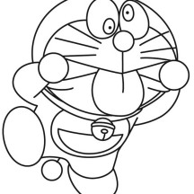 Doraemon Silly Faces Colorin Pages
