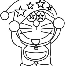 Doraemon Wearing Magician Hat Coloring Pages