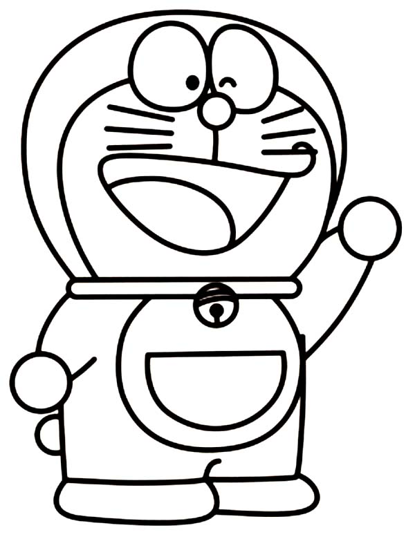 Doraemon Winking Coloring Pages