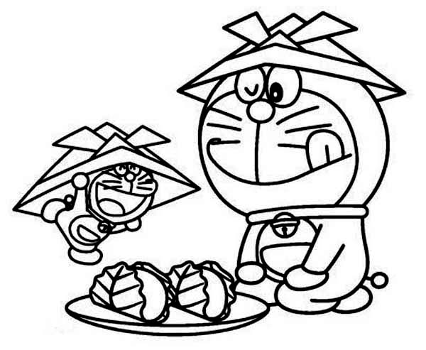 Doraemon and His Miniature Coloring Pages - NetArt