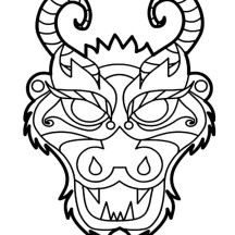 Dragon Boat Festival in Chinese Symbols Coloring Page