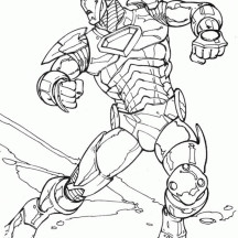 Drawing Iron Man Coloring Page