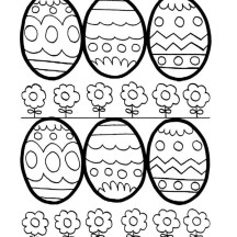 Easter Eggs and Flowers Coloring Page