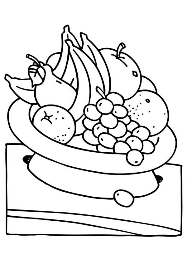 Eat Fruit For Your Health Coloring Page Netart