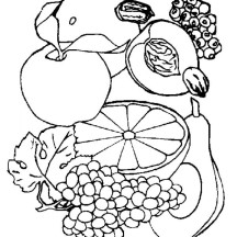 Eat Your Fruit Today Coloring Page