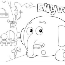 Ellyvan from Jungle Junction Coloring Page