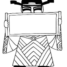 Emperor Massager in Chinese Symbols Coloring Page