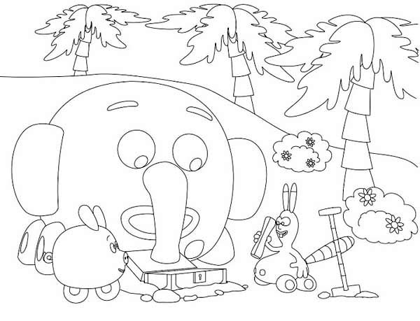 Find the Treasure in the Jungle Junction Coloring Page