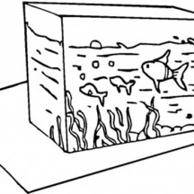 Fish Tank Coloring Page for Kids