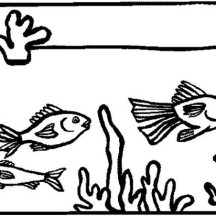 Fish Tank for Home Decoration Coloring Page