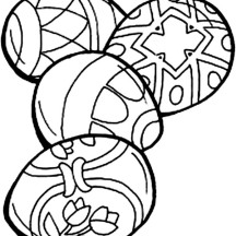 Four Easter Eggs Coloring Page