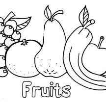 Fresh Fruit Coloring Page
