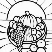 Fruit for Thanksgiving Coloring Page