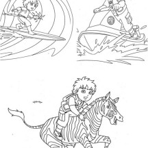 Go Diego Go Movie Scene Coloring Page