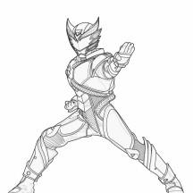 Go Go Kamen Rider Coloring Page