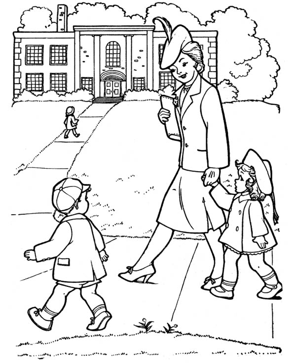 Gran Parents Day Coloring Page for Kids