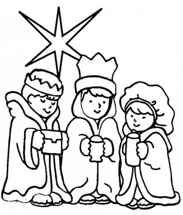 Great Three King The Bible Heroes Coloring Page