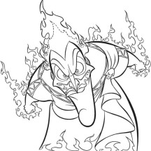 Hades Anger Full of Fire Coloring Page