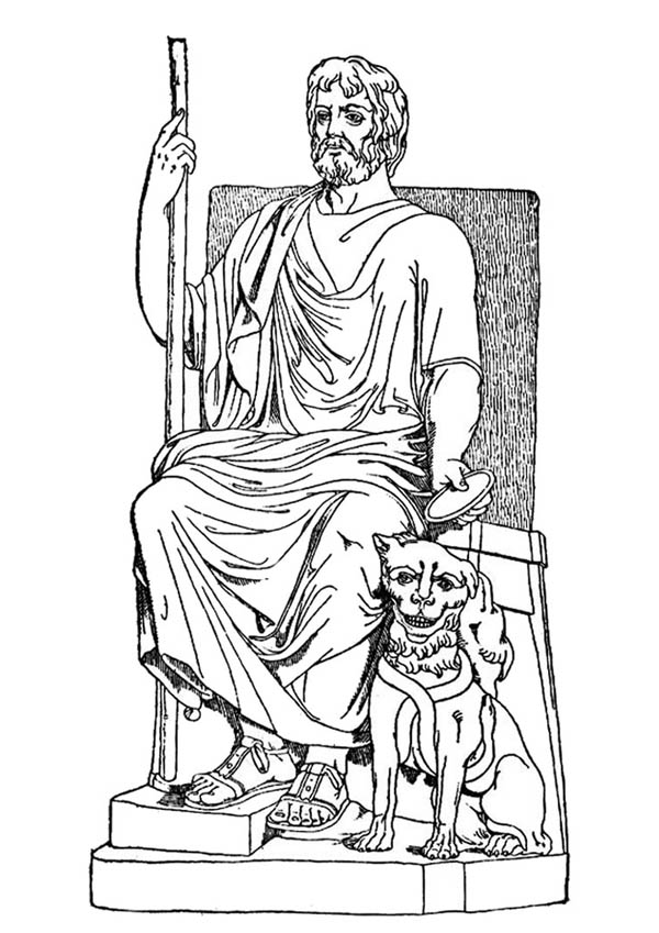 hades sitting on his throne coloring page netart