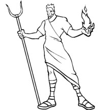 Hades The Greek Myth God Coloring Page