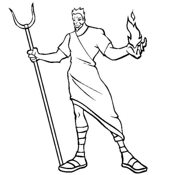 Hades The Greek Myth God Coloring Page