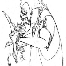 Hades in Hercules Movie Scene Coloring Page