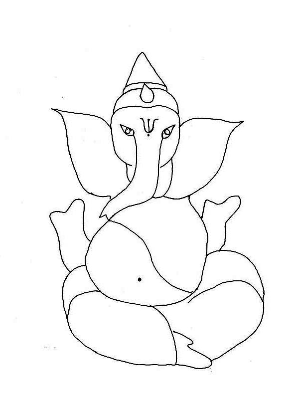 Happy Diwali Day Coloring Page