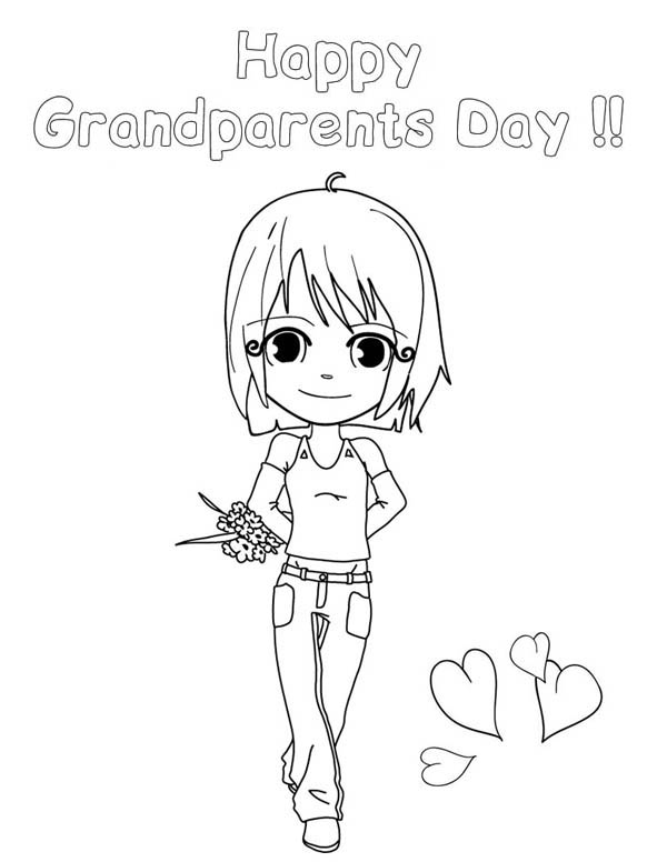 Happy Gran Parents Day Mommy Coloring Page