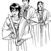 Harry Potter Prepare for Competition Coloring Page