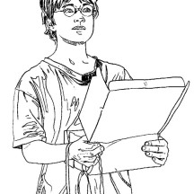 Harry Potter Receipt Package from Hedwig Coloring Page