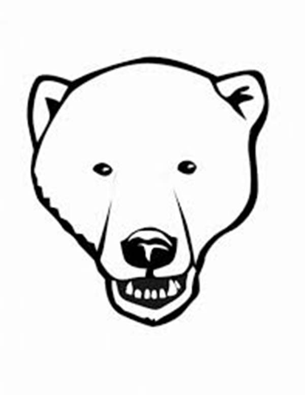 Head of Black Bear Coloring Page