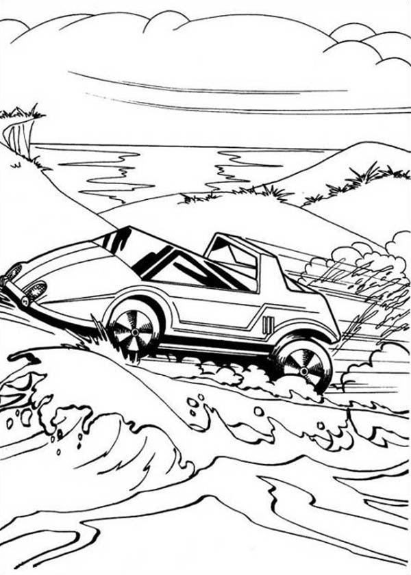 Hot Wheels Battle Force Through Desert Coloring Page