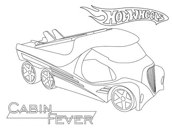Hot Wheels Cabin Fever Coloring Page