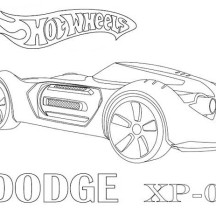 Hot Wheels Dodge XP 07 Coloring Page