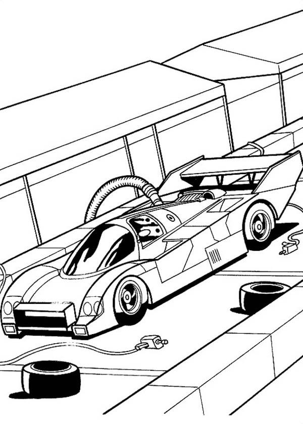hot wheels fast car garage coloring page - netart
