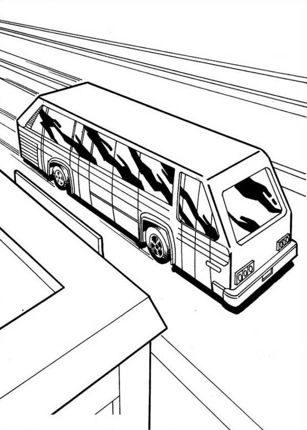 Hot Wheels Future School Bus Coloring Page