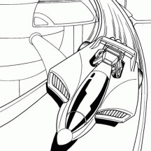Hot Wheels Futuristic Car Coloring Page