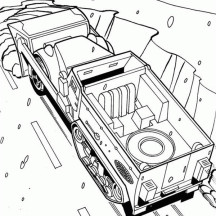 Hot Wheels Half Truk Coloring Page