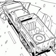 Hot Wheels Half Truk Coloring Page