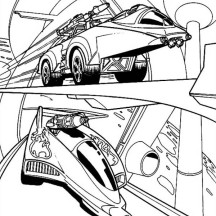 Hot Wheels Road Race Coloring Page