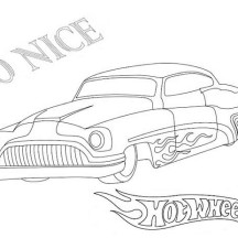 Hot Wheels So Nice Coloring Page