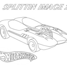 Hot Wheels SplittinImage 2 Coloring Page