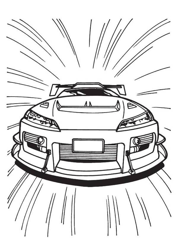 Hot Wheels Top Speed Car Coloring Page