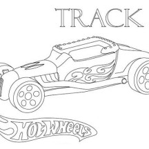 Hot Wheels Track T Coloring Page