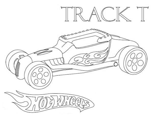 Hot Wheels Track T Coloring Page NetArt
