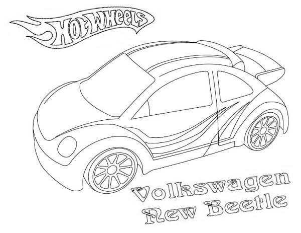 Hot Wheels Volkswagen New Beetle Coloring Page