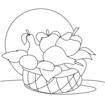 How to Draw Fruit in a Basket Coloring Page